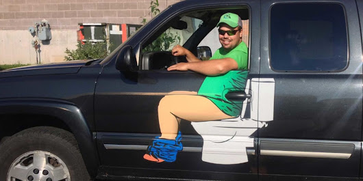 We Can't Stop Laughing at This Plumber's Incredibly Clever Truck Logo