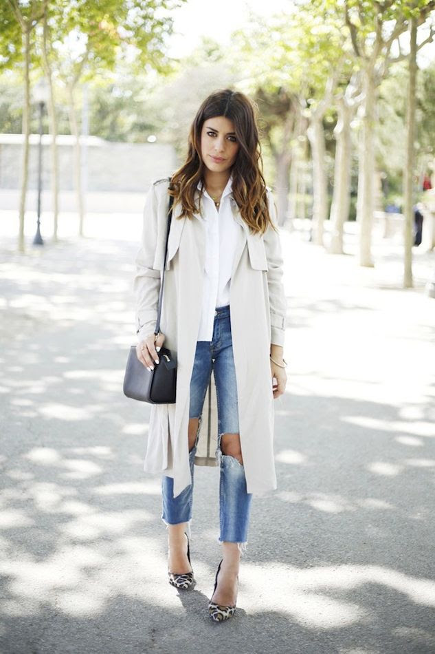 Le Fashion Blog Light Grey Beige Trench Coat White Shirt Wavy Ombre Hair Ripped Jeans Raw Hem Leopard Heels Aida Domenech Dulceida photo Le-Fashion-Blog-Light-Grey-Beige-Trench-Coat-White-Shirt-Wavy-Ombre-Hair-Ripped-Jeans-Raw-Hem-Leopard-Heels-Aida-Domenech-Dulceida.jpg