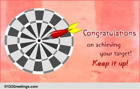 Target Achieved! Free Appreciation & Encouragement eCards