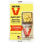 Victor M032 Easy Set Wood Based Mouse Trap, 4-pack