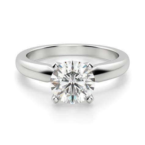 Tiffany Style Round Cut Solitaire Engagement Ring