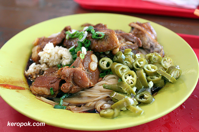 Pork rib and chicken wings noodles