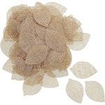 Bright Creations Jute Burlap Leaf Craft Shapes (120 Count)