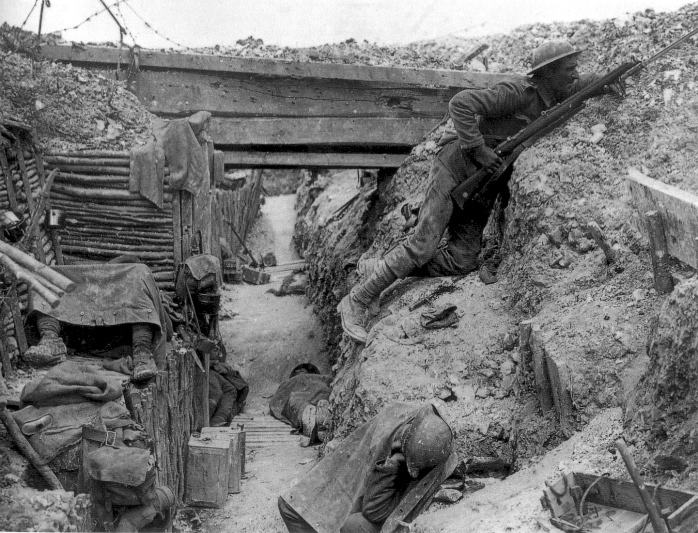 A trench at the Western Front