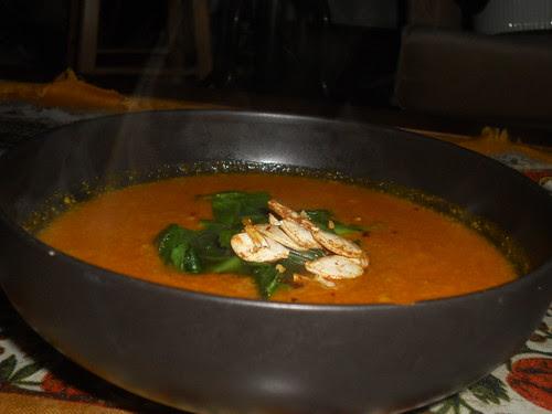 Squash and peanut soup