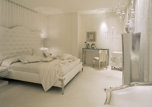 Top Picture of All White Bedroom   Sharon Norwood Journal