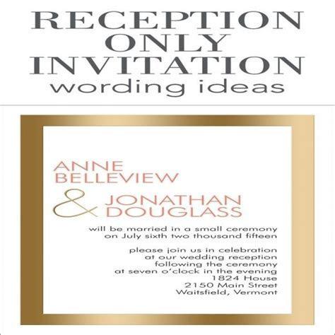 1000  ideas about Wedding Reception Invitation Wording on