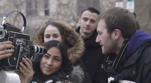 Shooting Selfies with Strangers Using a 16mm Bolex Film Camera