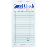 Green Interleave Carbon Guest Checks-2 Part Booked, Case of 50 Books
