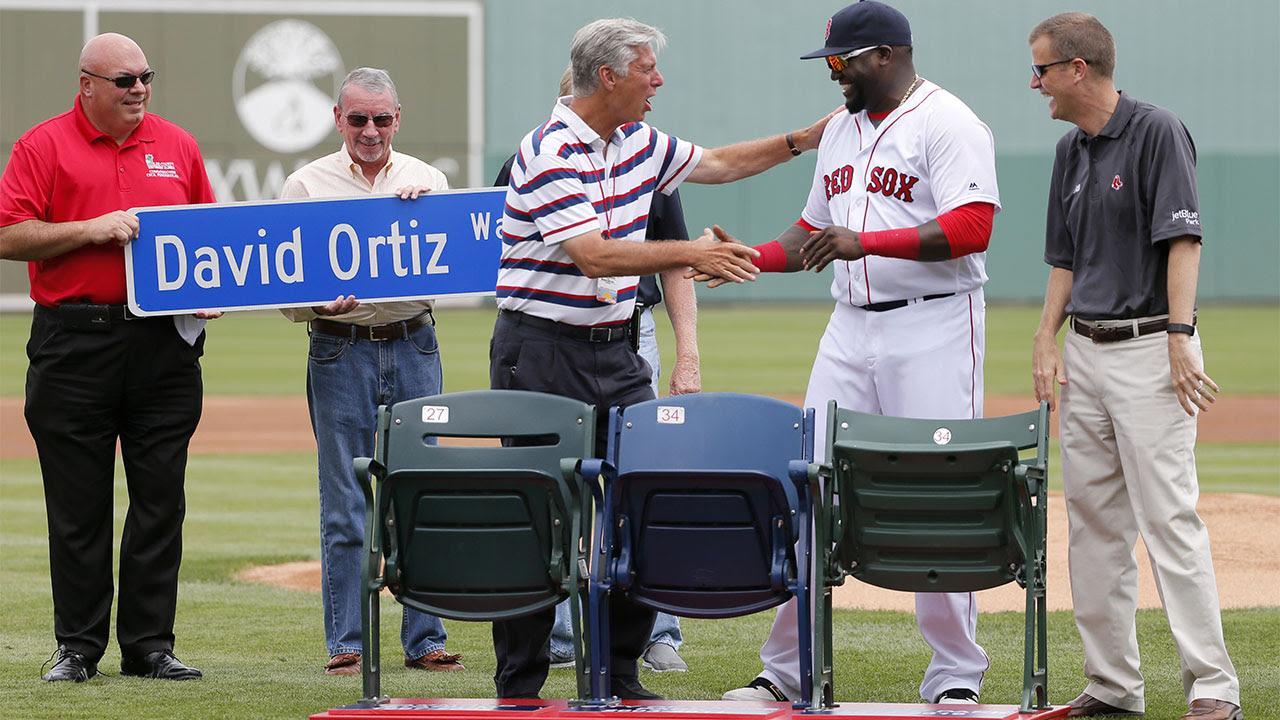 Los Medias Rojas homenajearon a David Ortiz en Fort Myers