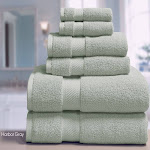 ELLE 100% Combed Cotton 6 Piece Towel Set, Bath, Hand, Fingertip - Cobalt