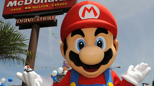 Super Mario toys now available in McDonald's Happy Meals