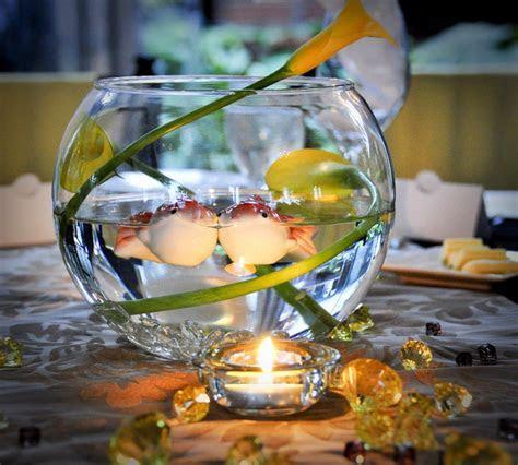 Fish Bowl Centerpiece   Fishing Themed Wedding Ideas