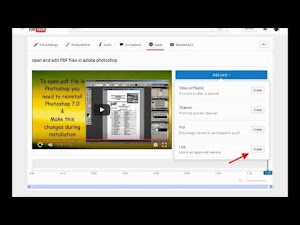 add associated website card to  your uploaded youtube video