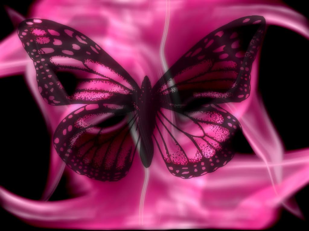 Pink Butterfly Wallpaper Desktop - WallpaperSafari