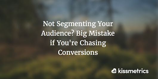 Not Segmenting? Big Mistake if You're Chasing Conversions