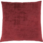 "Monarch Specialties 18"" x 18"" Brushed Velvet Pillow - Red"