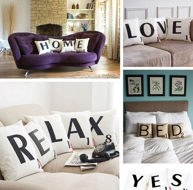 Flechazo cojines scrabble tr s studio blog de - Scrabble decoracion ...