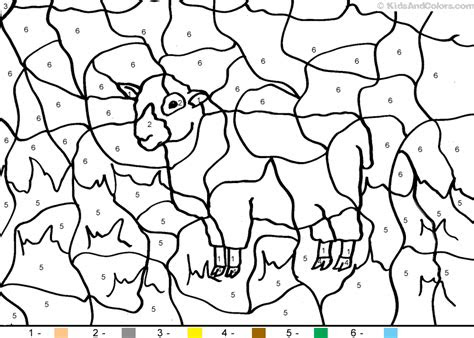 animalcolorbynumber color  number sheep coloring pages