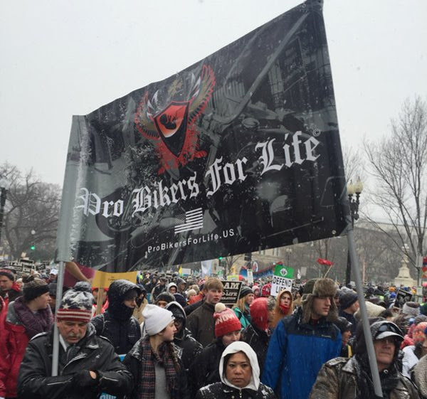Pro Bikers for Life at the 2016 March for Life (Photo: Twitter/Charlie Spiering)