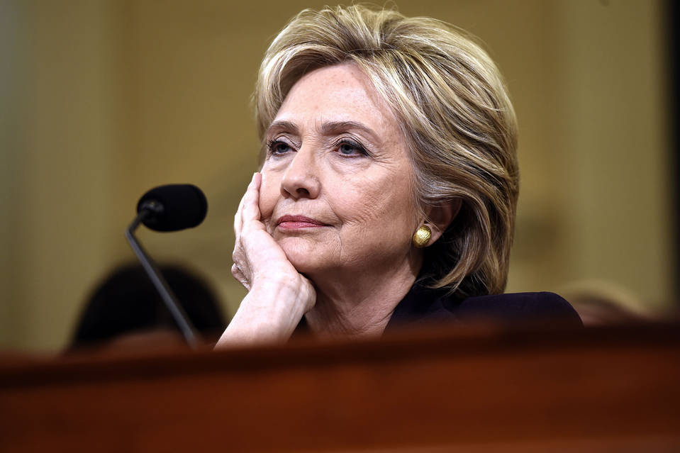 Hillary Clinton at the House Benghazi committee hearing, Oct. 22.