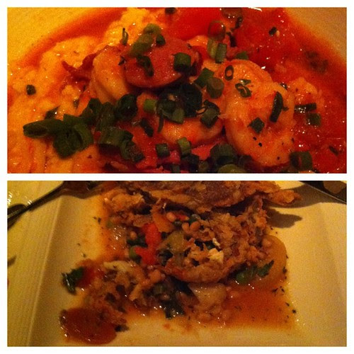 Shrimp & Grits x2 in one day is....totally legit, yes? Just like 3 glasses of rosé?