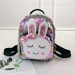 HEQU Kids Cartoon Rabbit Sequin Backpack Children Girl Boy School Book bag Laser Sequin Small Backpack Travel Rucksack Multicolor