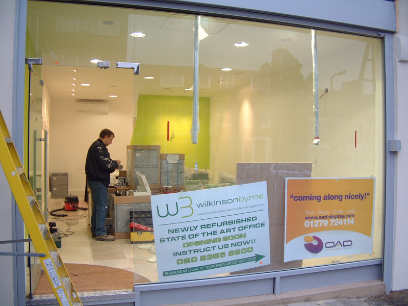 Oad Creative Design Glass Shop Fronts Office Refurbishment