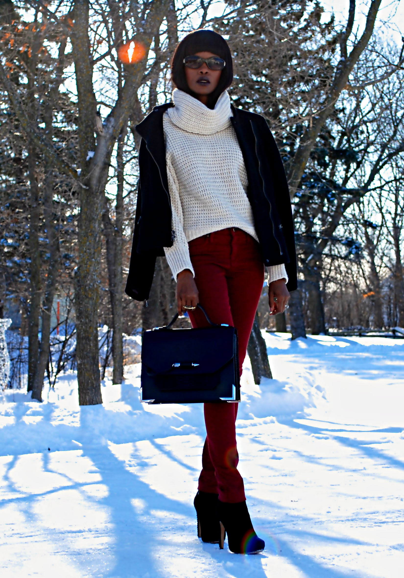 outfit of the day coloured denim