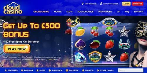 Cloud Casino Review | £500 Bonus + Free Spins | Bet Online UK