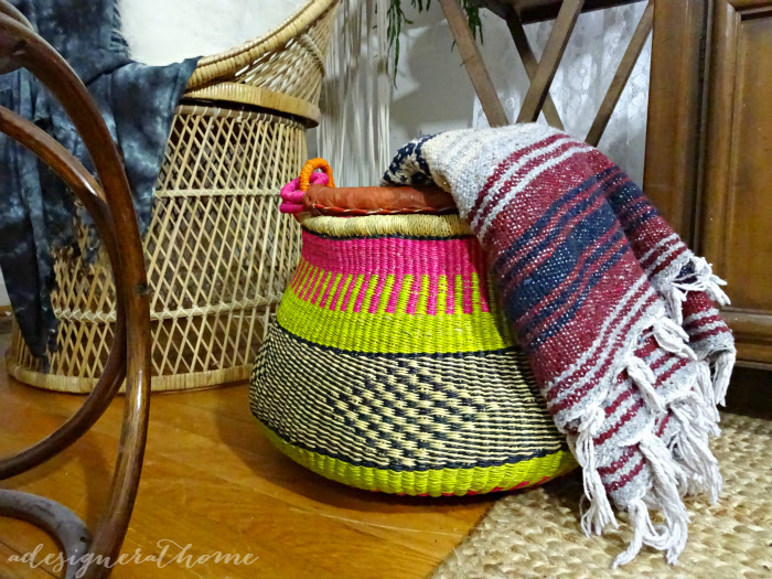 global decor african tribal inspired hand woven basket a designer at home home and garden show find