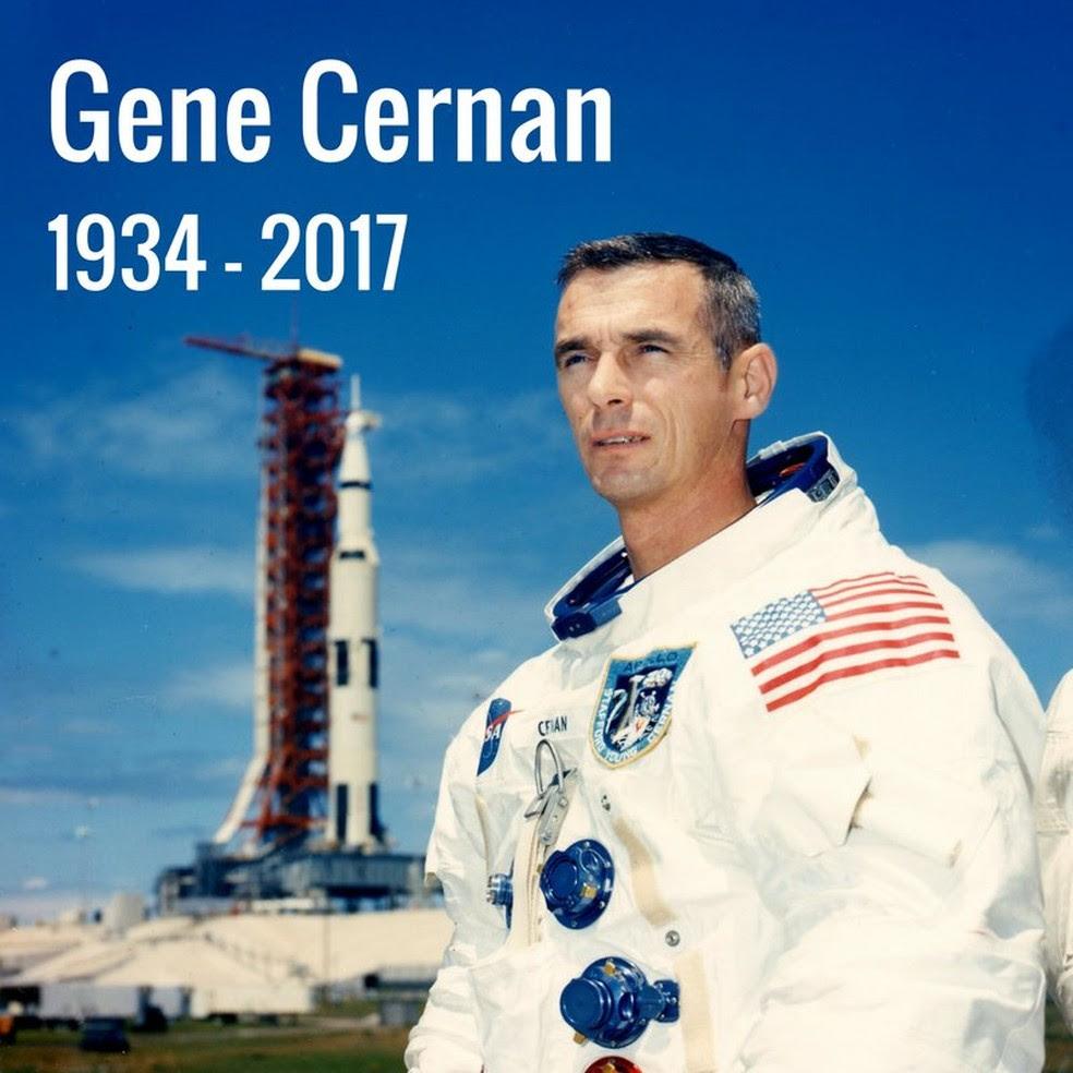 Foto publicada pela Nasa para anunciar a morte do astronauta no Twitter (Foto: Nasa/Twitter)