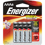 Energizer Max Alkaline AAA Batteries 8-Pack