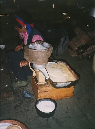 Making cream and butter at Wuxu Hai