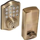 Honeywell 8712109 Electronic Entry Deadbolt Door Lock with Keypad, Antique Brass