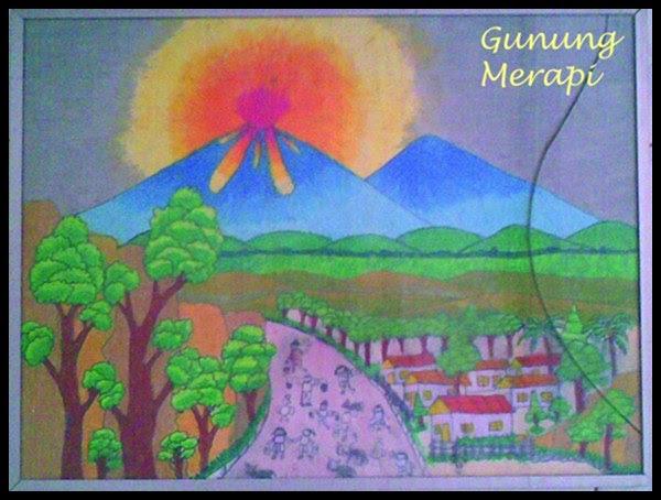 40+ Lukisan Pemandangan Gunung Berapi