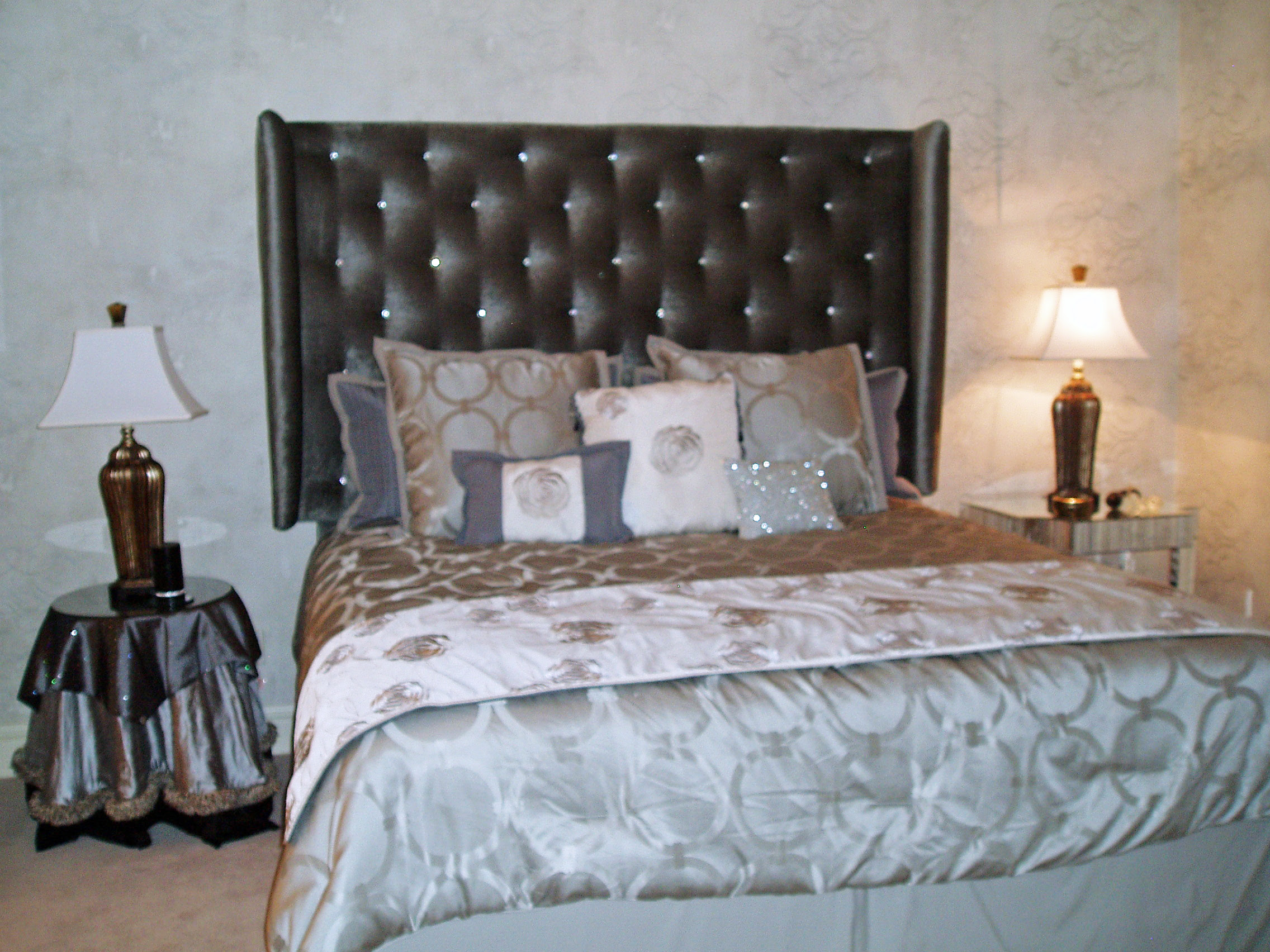 Hollywood Glamour Inspired Guest Bedroom- Final Installation   S ...