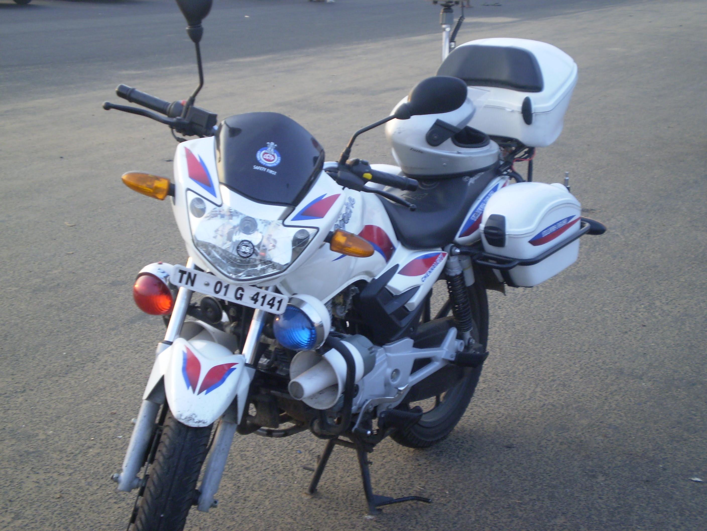 Chennai Police Patrol Bike