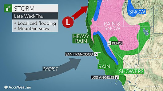 Midweek rain, mountain snow to end California's dry and unseasonably warm stretch