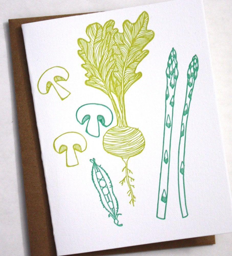 Veggie Cards Letterpress notecards