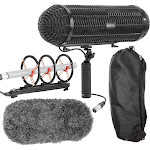 Movo BWS1000 Blimp Microphone Windshield Mount and Vibration Protection System for Shotgun Microphones - Features 12-Point Internal Shock Mount, Integ