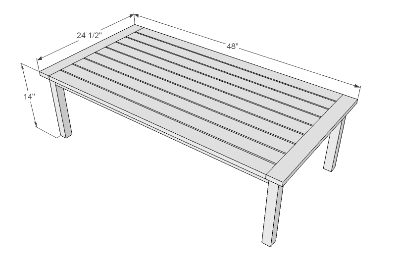 Ana White   Simple White Outdoor Coffee Table - DIY Projects