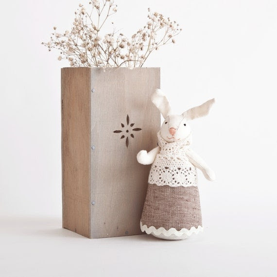 Easter Bunny.  Rabbit handmade. Home Decor. Child's Room Decoration