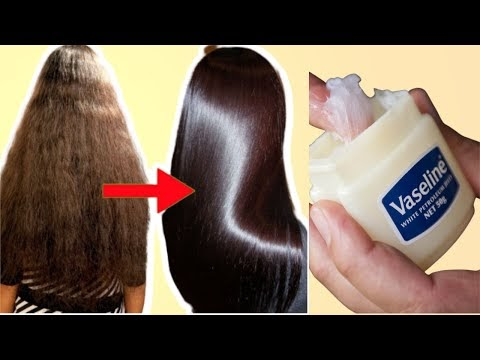 How to Use Vaseline for Hair Straightening & fast Hair Growth