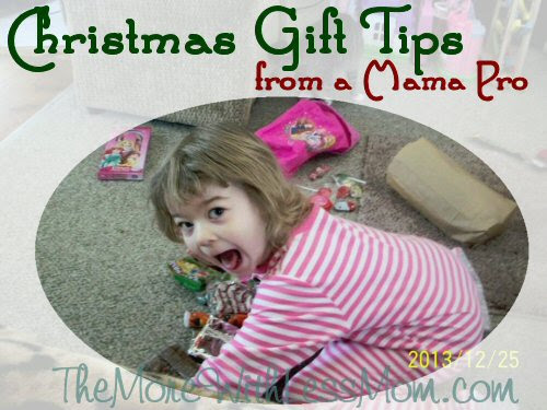 Christmas Gift Tips from a Mama Pro - More With Less Mom