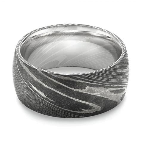 damascus steel mens wedding ring  seattle
