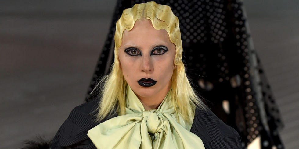 Lady Gaga nails goth glam for Marc Jacobs
