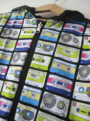cassette hoodie close