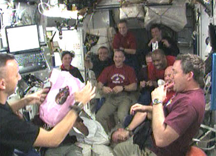 Randy Bresnik and STS-129 and Expedition 21 crews