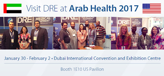 Visit DRE Representatives in Dubai at Arab Health 2017